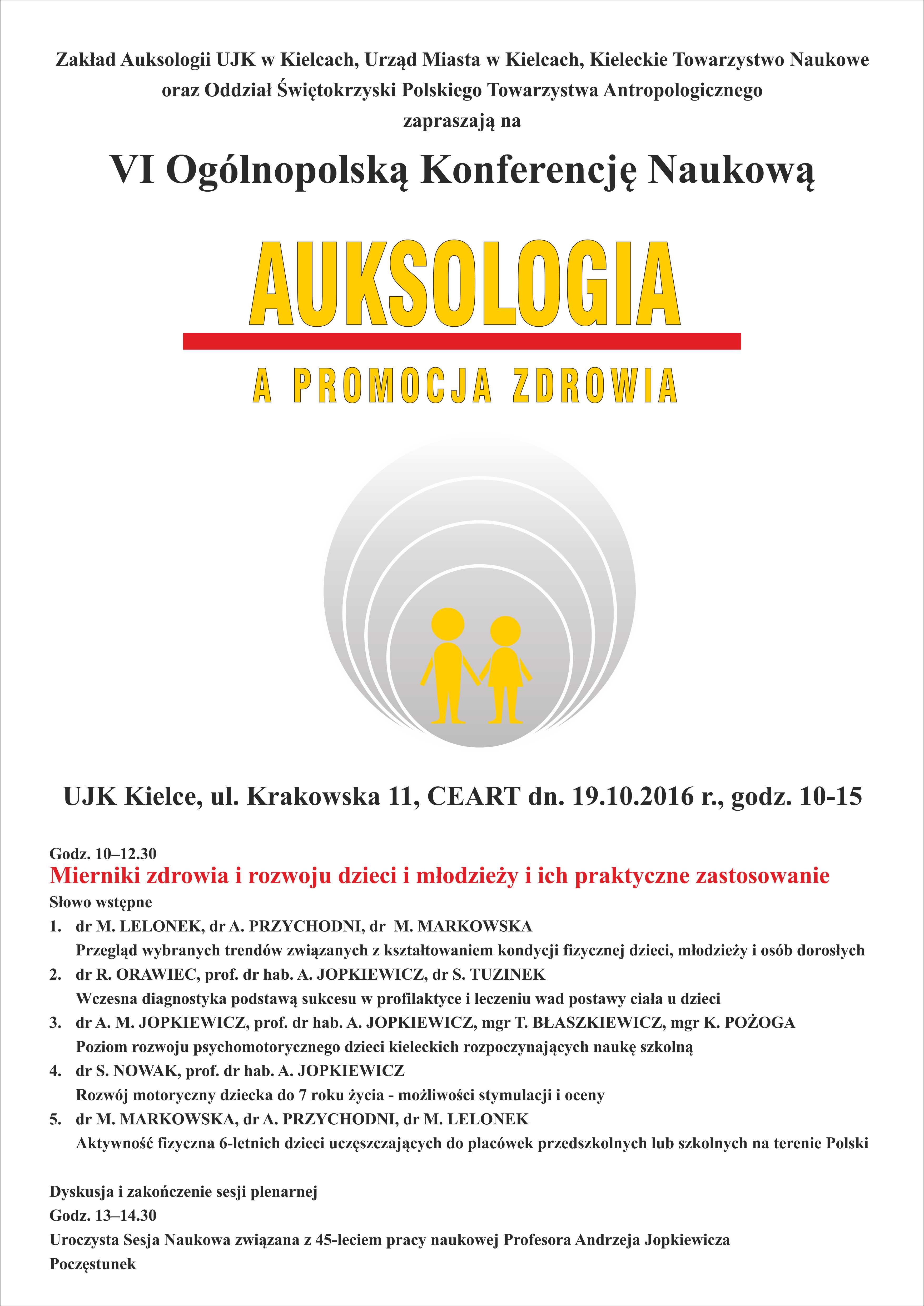 Plakat A3 Auksologia1 Kieleckie Towarzystwo Naukowe